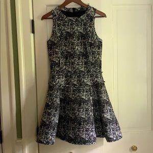 Black and white mini skater dress
